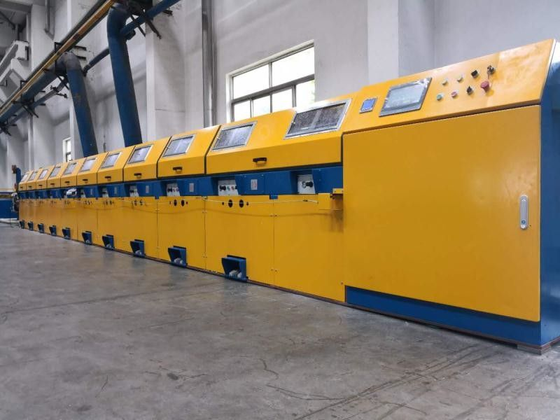 Vertical Type Straight Line Wire Drawing Machine For Low / Medium Carbon Steel